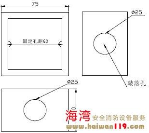 接线盒结构尺寸外形示意图