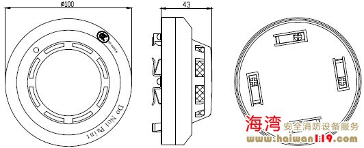 JTY-GD-G3探测器的外形结构示意图