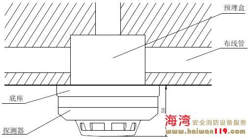 JTY-GD-G3烟感探头安装方式