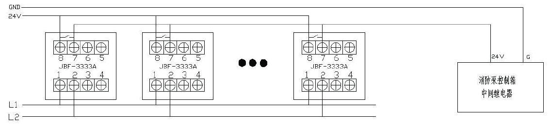 JBF-3332A消火栓按钮接线
