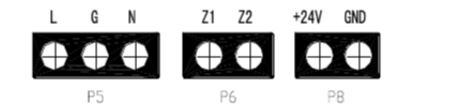 GST-DY-200A智能网络电源箱外接端子示意图