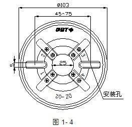 DZ-02探测器外形示意图