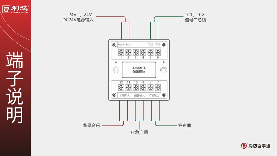 LD6804ED输出模块端子说明